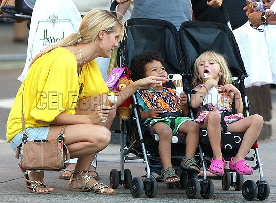 heidi klum seal kids. Heidi Klum and Kids Cool Down