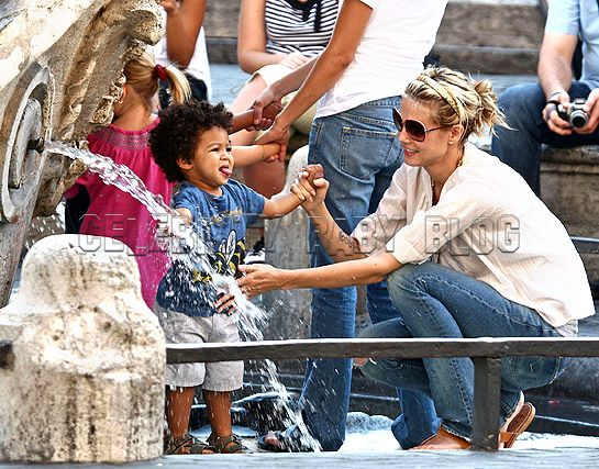 heidi klum and seal kids. Heidi Klum, Leni and Johan#39;s
