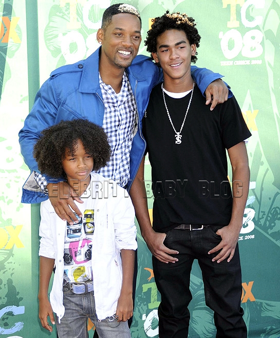 will smith kids pictures. Will Smith and Sons Strike a