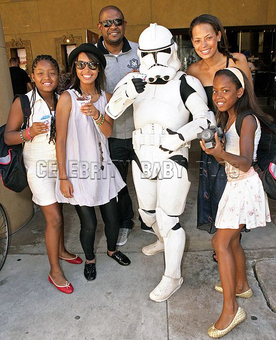 Forest Whitaker and Family Get Friendly with Storm Trooper
