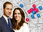 William & Kate Interactive map