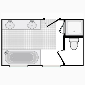 Small Bathroom Design on Smaller Design Allows For Closets Outside Of The Bathroom Area