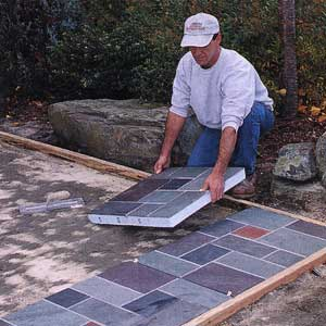 Snap Together Slate Patio Tiles | Tile Design Ideas