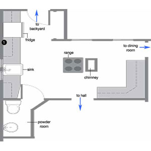 Kitchen Floor Designs on Kitchen Floor Plan Before