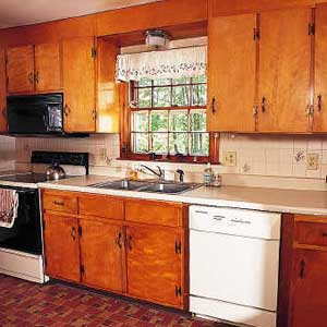 these sitebuilt cabinets from the 1960s still had years of service ahead of them but their look was outdated