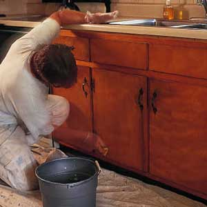 To Paint The Cabinets Painter Vytas Misenis Of Woodbury Connecticut