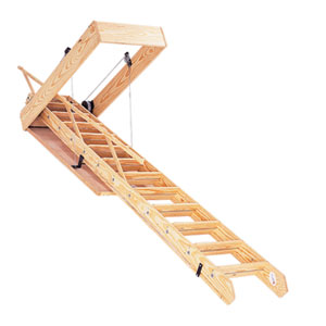 Складная чердачная лестница своими руками чертеж