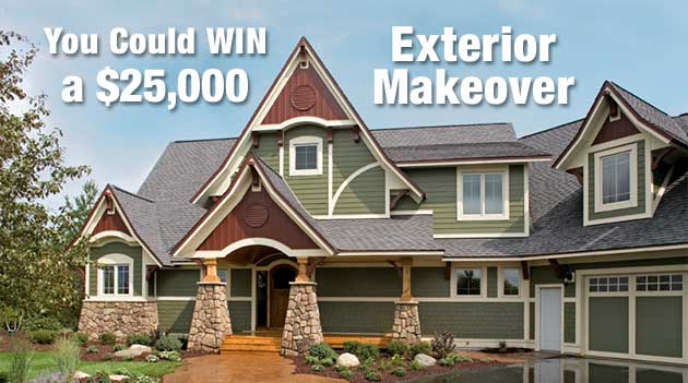 enter for a chance to win a twenty-five thousand dollar exterior makeover
