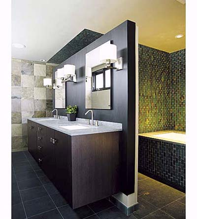 Juice thinking thursday shower tile borders kitchen wall for Earth tone bathroom ideas