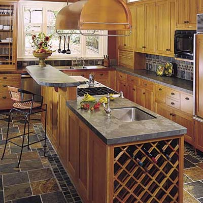 Custom kitchen island design ideas best home decoration - Kitchen island with cooktop and prep sink ...
