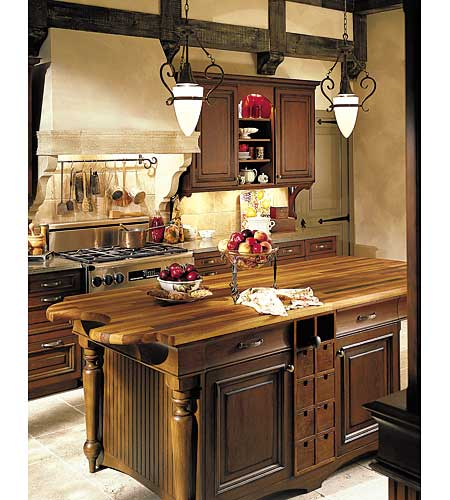 kitchen island in traditional style