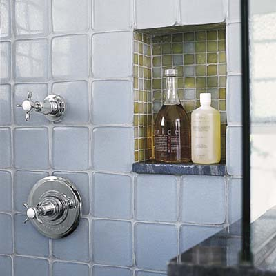 Recycled Tile Backsplash