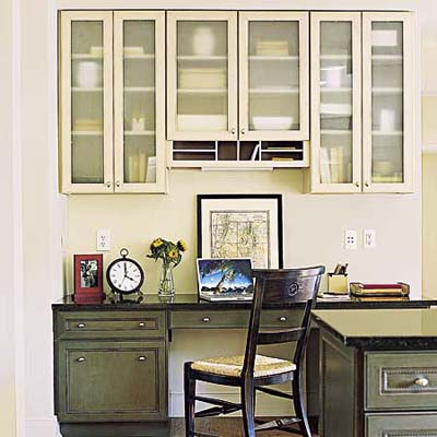 Kitchen offices inspiring interiors for Home office in kitchen ideas