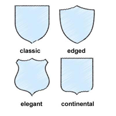 Blank Shield Shape