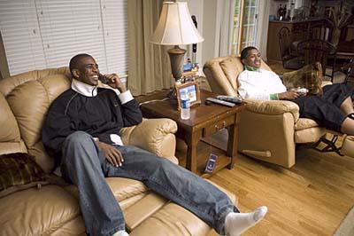 NBA star Chris Paul in recliner