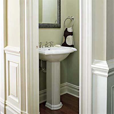 Via the life of october 2010 for Half bathroom ideas