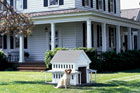 greek revival style doghouse