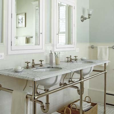 Lovely Console Bathroom Sinks On Vintage Look Console Double Sink And Medicine  Cabinets