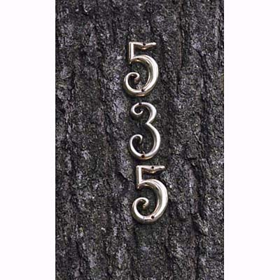 raised brass house numbers