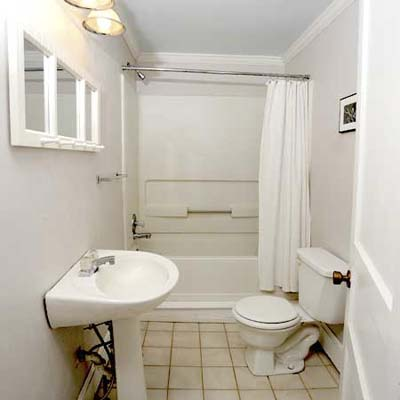 Our suburban cottage chic on a shoestring ask home design for Cottage bathroom ideas renovate