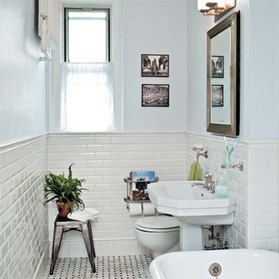 Bathroom Lighting This Old House bath gets a classic redo, 1920s-style