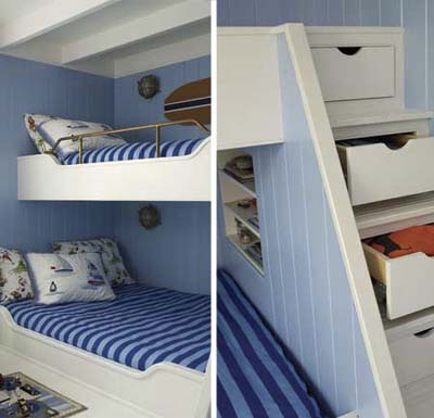 Cool Bunk Beds Built Into Wall