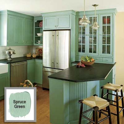 cyberlog: new paint cabinets kitchen facelift