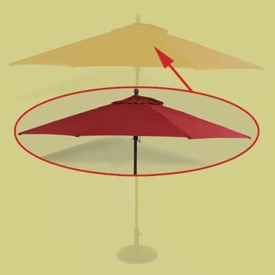 Patio Umbrella Parts » Replacement patio umbrella canopy