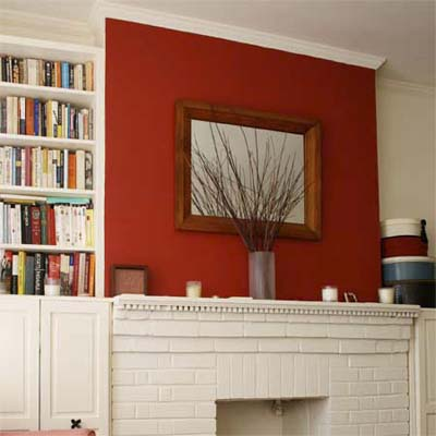 Living Room On Painting One Wall In A Room Red Adds A Pop Of Active Color Part 60
