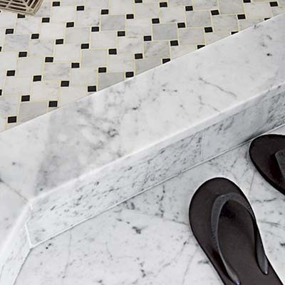 Carrara marble floor tilebathroom shower kitchen flooring for Carrara marble bathroom floor designs
