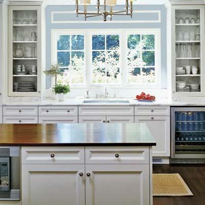 Kitchen Sink Across Low Window
