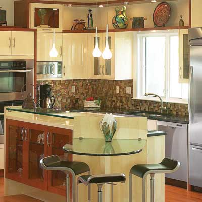 Compact kitchen units professional kitchens small kitchen for Kitchen island ideas small space