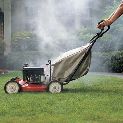 What would make a lawn mower stop running after a short distance
