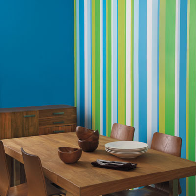 Accent Wall Color Combinations on Add A Striped Accent Wall   32 Ways To Deck The Walls For The