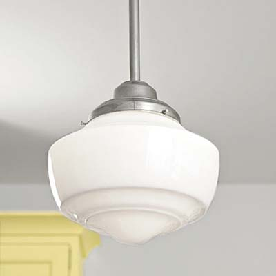 Schoolhouse Pendant Light on Pendant Schoolhouse Light Reproductions Used In This Remodeled