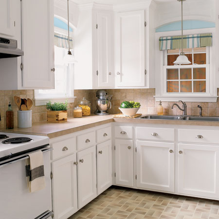 Minhus reno dreams cheap n good kitchen redo for Budget kitchen cabinet ideas
