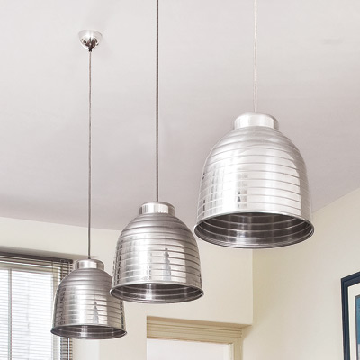 Kitchen Ceiling Lighting Ideas On Retro Modern Kitchen With Oversized Pendant Ceiling Lights