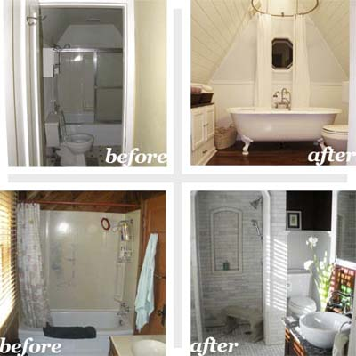BATHROOMS BEFORE AND AFTER Bathroom Design Ideas