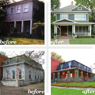 16 whole house remodels curbly diy design decor for Remodeling old homes