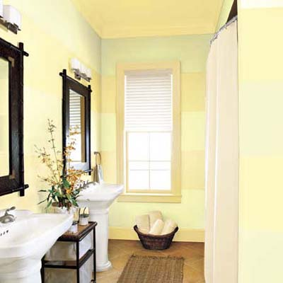 Bathroom Paint Color Ideas On Enlarge A Bath With Sideways Stripes 15  Decorative Paint Ideas