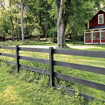 Eastern White Cedar Fence - Wood Guard Rail