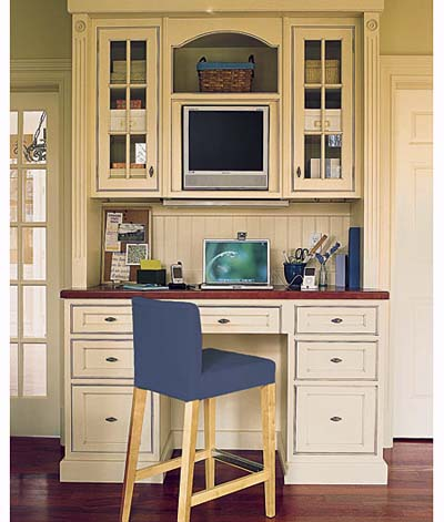 Kitchen offices inspiring interiors for Home office in kitchen
