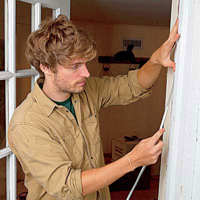 weatherstripping a door