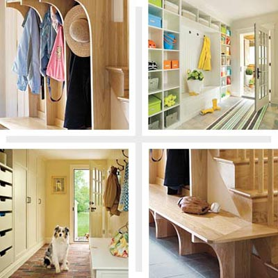 mudroom with storage