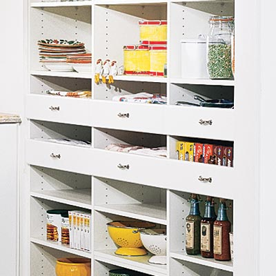 sunny nook pantry with deep drawers