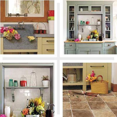 potting rooms with storage