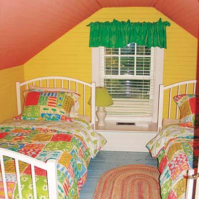 kids bedroom suite in attic