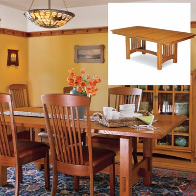 dining table furniture build craftsman dining table. Black Bedroom Furniture Sets. Home Design Ideas
