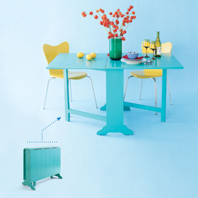 Dining Room Furniture  Small Spaces on Space Saving Tables   Photos   Small Space Solutions   This Old