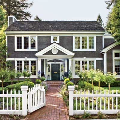 Colonial Style Exterior House Color Ideas